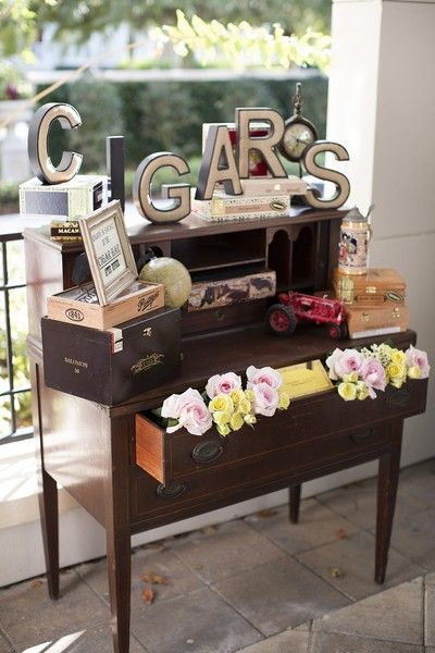 Cigar bar for your wedding guests! Could this be any cuter? {@kimberhensley}: