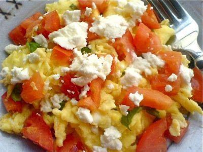 Tomato Chevre Scramble
