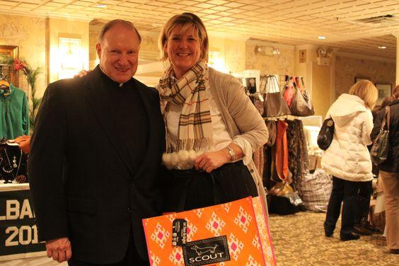 Moderator Fr. Richard Cronin and DMG President Patty McCormick at the DMG Shop Till You Drop event on November 29, 2012.