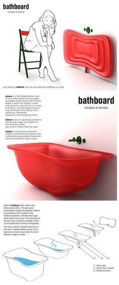 Banheira para banheiros pequenos - será que já está à venda?