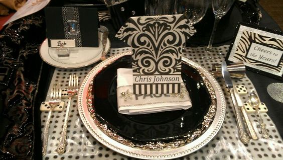 New Years tablescape by Count Kody