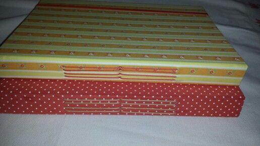 Caderno com costura manual!