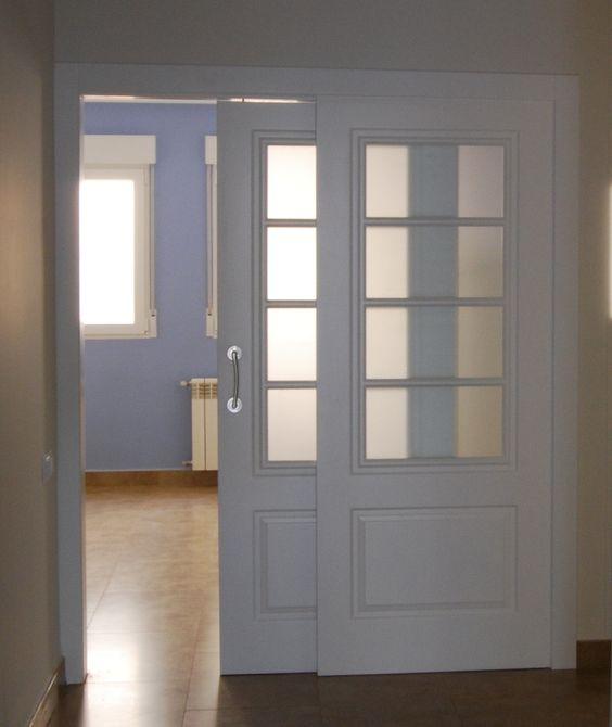Puerta fija corredera cocina carpinter a pinterest for Puerta corredera cocina
