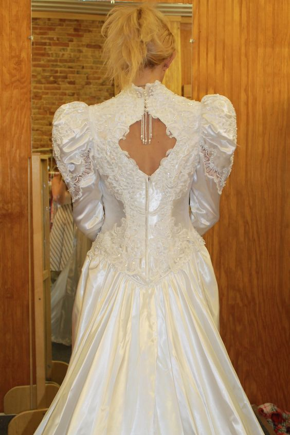 Just one of our collection of vintage gowns