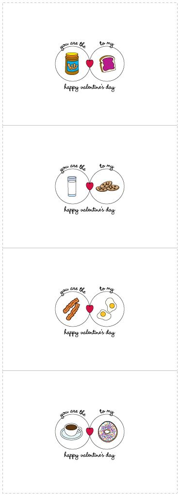 Cute little Valentine's Day cards just right for giving to your loved ones - free printable!
