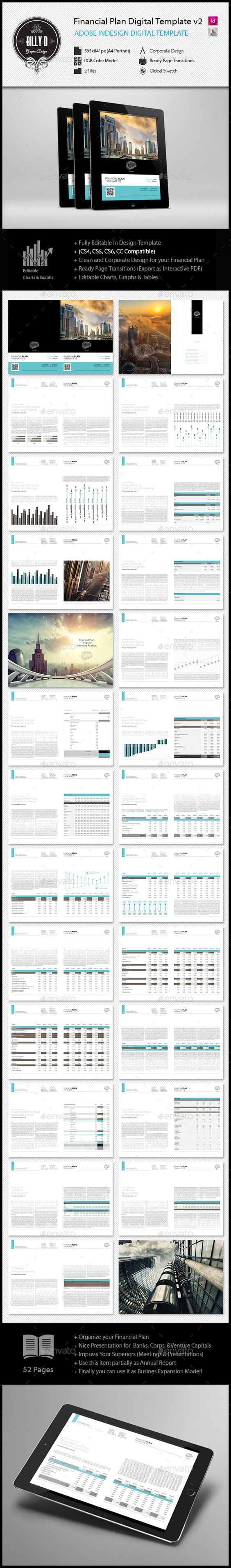 Pages rgb color - Preview This Item Here Financial Plan Digital Template Rgb Color Model Clean And Contemporary Design