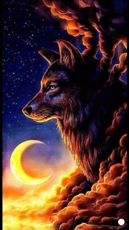 Iphone Background Cute Wallpapers Phone Backgrounds Screen Wallpaper Aesthetic Wallpapers Sunset Wallpaper Wolf Painting Wolf Wallpaper Wolf Artwork