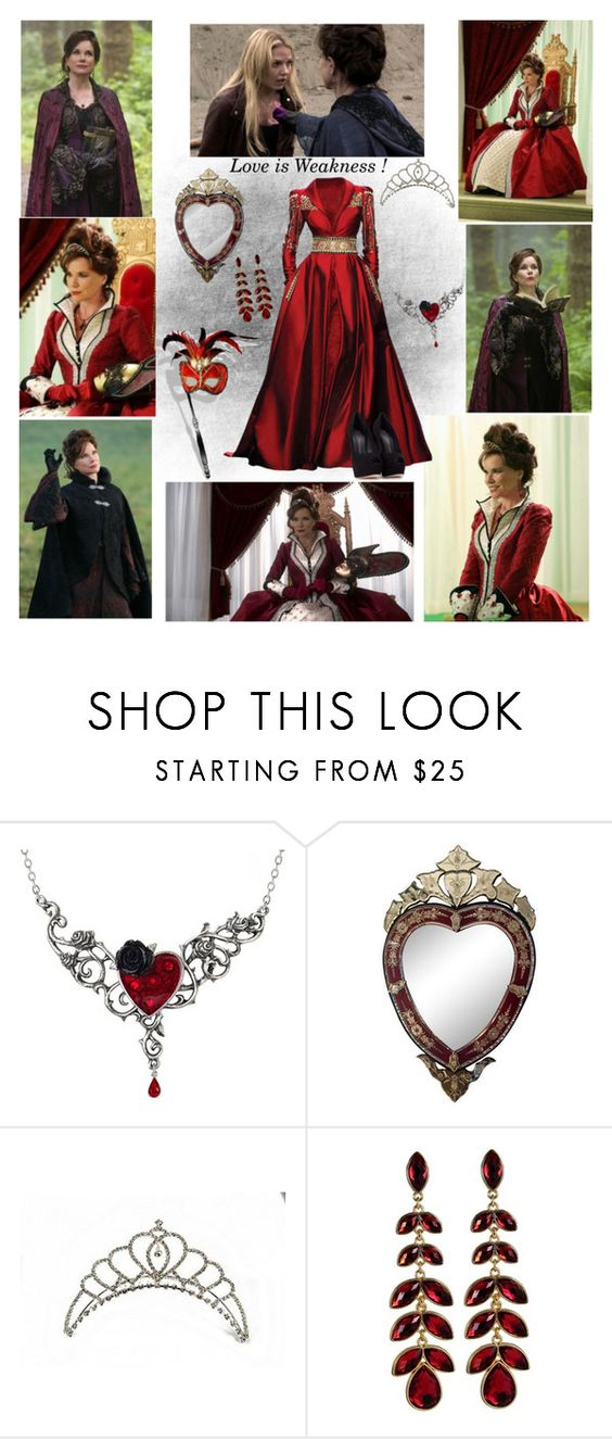 """""""Cora Mills  (The Queen of Hearts)"""" by greerflower ❤ liked on Polyvore featuring Once Upon a Time, Masquerade, Randa and Giuseppe Zanotti"""