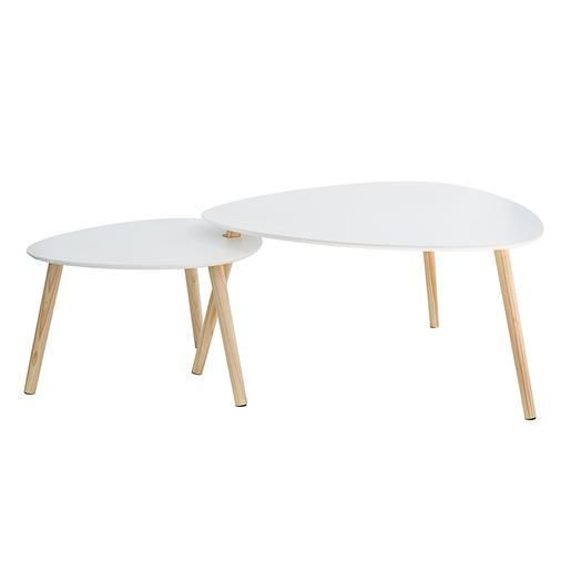 Table Gigogne Ovale Blanc Tables Gigognes Mobilier De Salon Table Basse