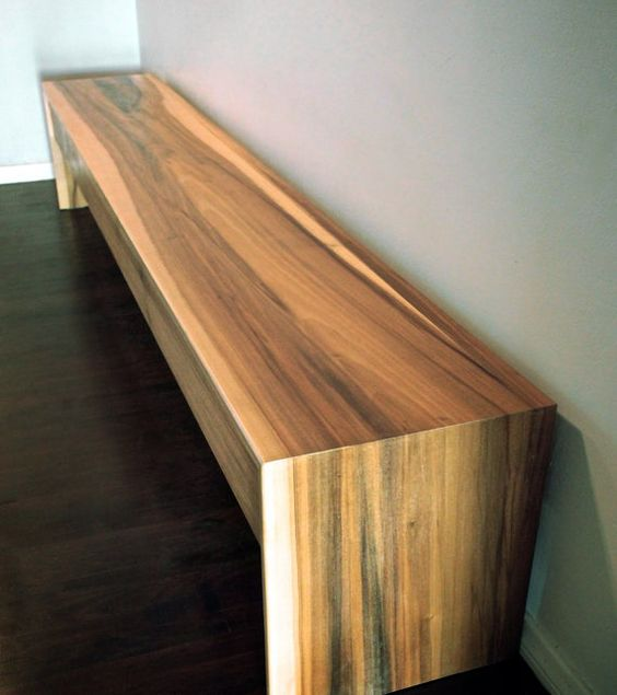 Wood Furniture Modern minimalist hardwood bench and coffee table ...