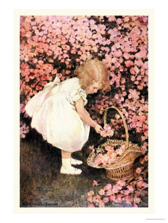 I have a picture taken   of me when I was this age, in my grandmother 's rose garden.
