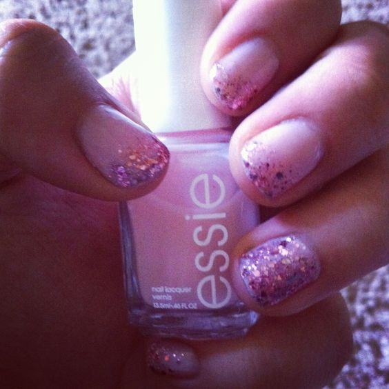 Barbie manicure :) Essie 'mademoiselle' and 'a cut above'.