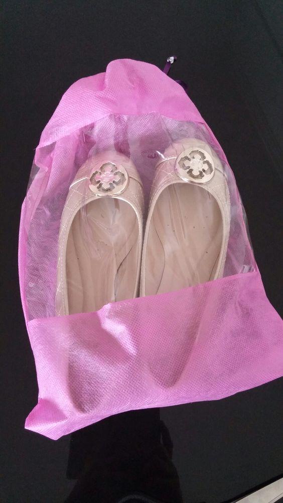 Saquinho para sapatilhas