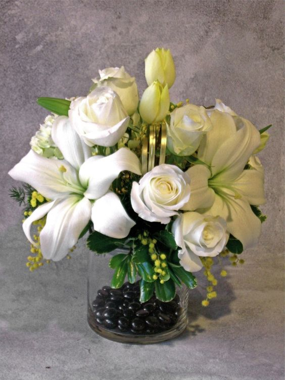 50th Wedding Anniversary Centerpiece Ideas | Found on bizbloom.biz