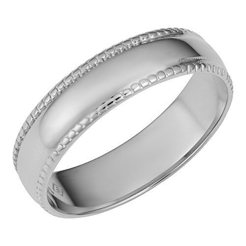 14k White Gold Milgrain Wedding Band Ring Size 9 Wedding Ring Bands Milgrain Wedding Bands White Gold Ring Band