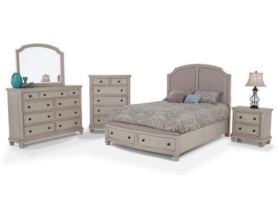 Euro Cottage 8 Piece Queen Bedroom Set   Bedroom Sets   Bedroom   Bob's Discount Furniture