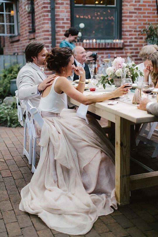 Low Key Wedding Reception, Party, Birthday, Anniversary, Celebration Ideas -  Wedding Dress Ideas: Alternative, Trendy Looks   Apartment Therapy