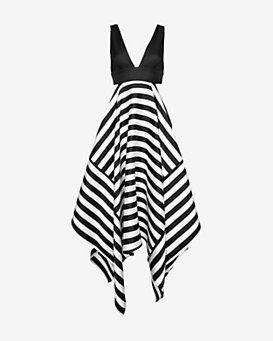 Nicholas EXCLUSIVE Striped Scarf Hem Dress
