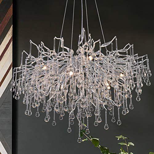 Antilisha Modern Crystal Chandelier Round Branch Forest Chandelier Lighting For Dining Room Ki In 2020 Modern Crystal Chandelier Crystal Chandelier Chandelier Lighting