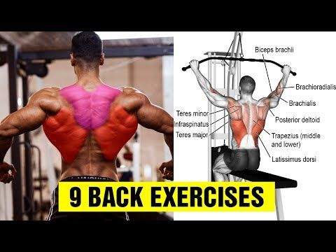 9 Exercises To Build A Big Back Gym Body Motivation Youtube Gym Body Body Motivation Back Exercises