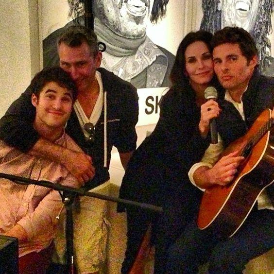Darren Criss, Adam Shankman, Courteney Cox and James Marsden