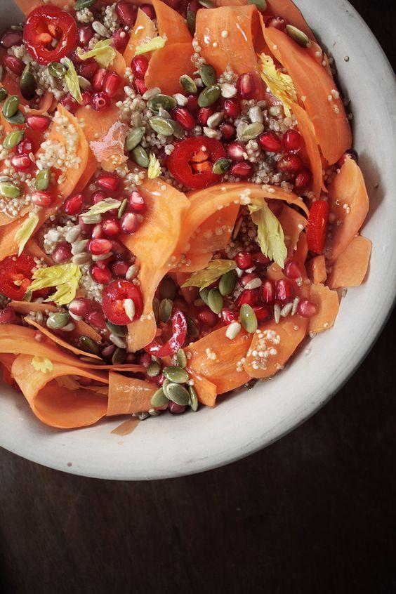carrot + quinoa warm salad // via saviasabia.com