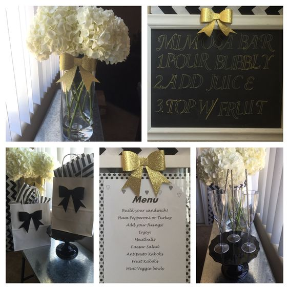 Gold black and white event