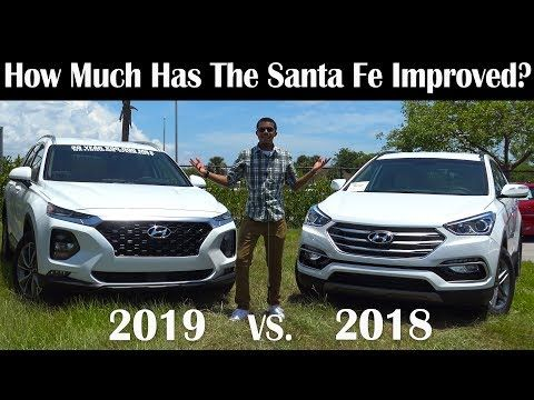 2019 Vs 2018 Hyundai Santa Fe Which Is The Better Suv Hyundai Santa Fe Suv Comparison Hyundai