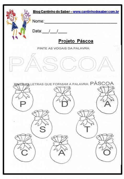 Atividade Da Pascoa 11 Pascoa Educacao Infantil Atividades
