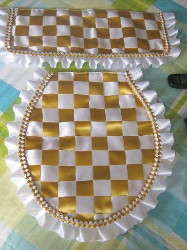 Juego de ba o cintas bordado cintas pinterest for Juego de bano economico