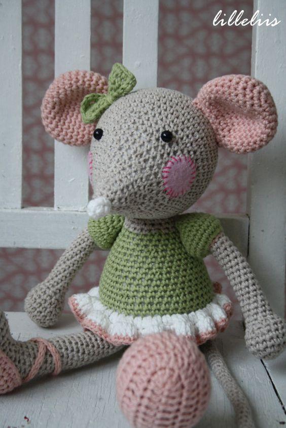 Etsy Amigurumi Patrones : Ballerinamouse ecofriendly amigurumi toy by lilleliis on ...