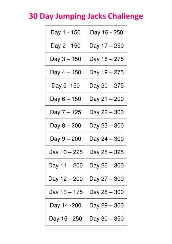 Dang these challenges!  Stop exploiting my competitive nature, Pintrest!  30 day jumping jacks challenge
