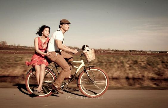 Two White Doves Photography-Couple bike shots rock