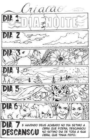 Ilustracoes Em Portugues Da My Creative Bible Genesis
