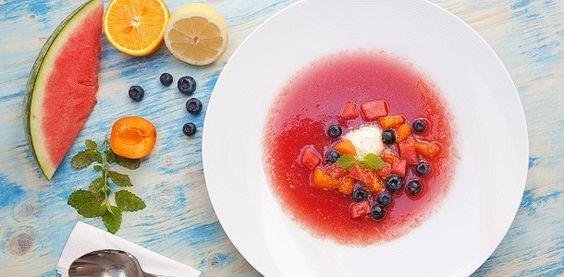 Süßes Wassermelonen Gazpacho Rezept