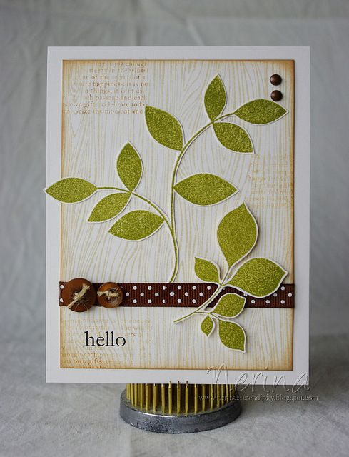 Masculine Leaves by Nerina's Cards, via Flickr