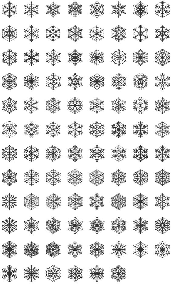 Snowflake dingbats - perfect for winter!: