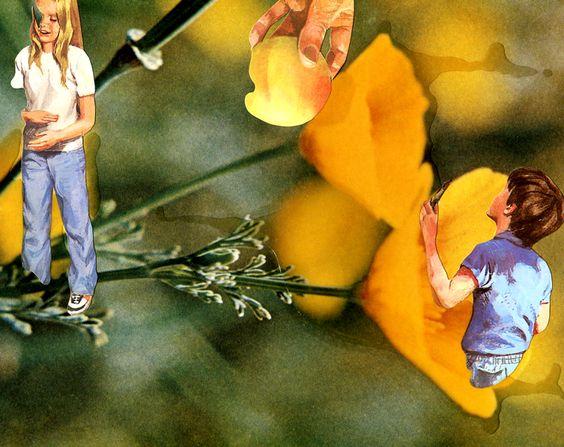 Catalina Schliebener- Serie vegetalia 10 - collage- 17 x 22 cm-     -Bisagra arte contemporaneo-