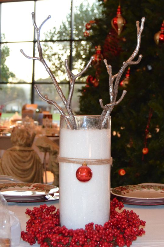 Red Wing Deer Centerpiece : Rudolph the red nosed reindeer centerpiece set table