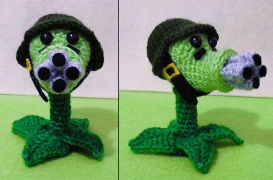Haha love this! Crochet Plants Vs. Zombies