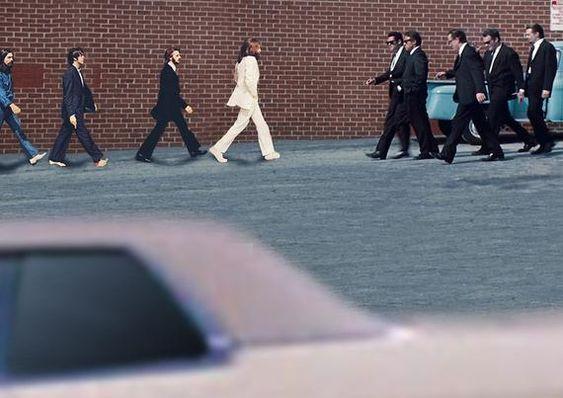 The Beatles Abbey Road / Tarantino Reservoir Dogs Mash Up Parody art print by @Whythelongplayface #beatles #beatles #johnlennon #paulmccartney #georgeharrison #ringostarr #tarantino #quentintaratino #pulpfiction #onceuponatimeinhollywood #killbill #movie #music #mashup #parody #funny