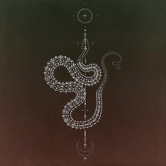 Serpiente Cosmica / Kris Davidson / Sacred Geometry <3