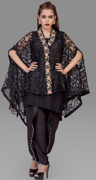 Stitching Styles Of Pakistani Dresses Black tulip shalwar