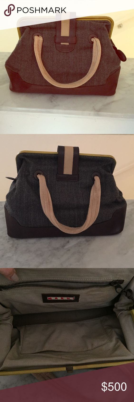 Marni doctor bag It's a vintage Marni doctor bag, very really good condition, no major flaws, a fee tiny stains but they don't show. Marni Bags