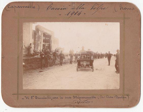 AUTO D EPOCA 1904 CACCIA ALLA VOLPE CONTE BENNICELLI E LA SUA DE DION BOUTON