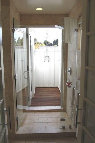 indoor outdoor bathroom indoor shower indoor outdoor shower ideas