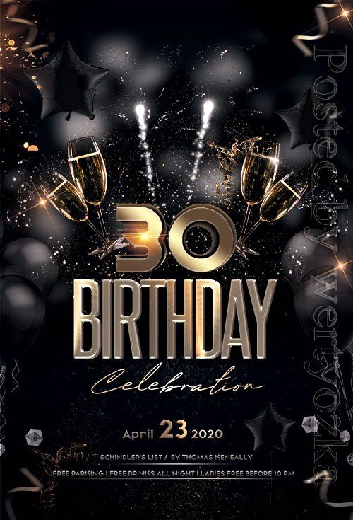 Birthday Party Premium Flyer Psd Template Birthday Flyer Free Psd Flyer Templates Birthday Flyer Template