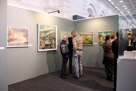 На открытии выставки