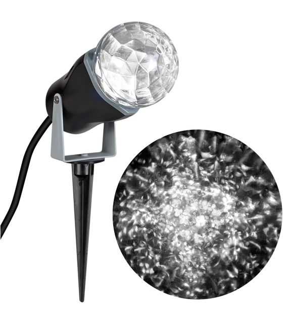 Holiday Cheer Lightshow Projection Kaleidoscope-White