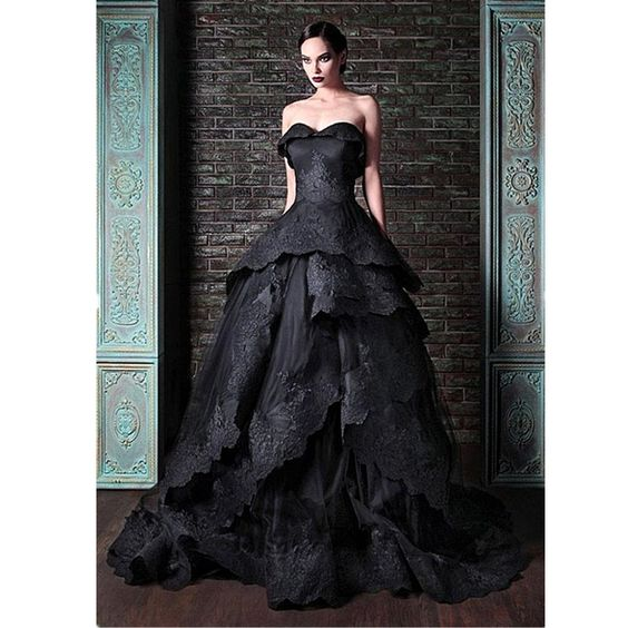 New Arrival Glamorous Sweetheart Off Shoulder A-line  Sleeveless  With Beading Long Black Pageant Wedding Dresses 2016